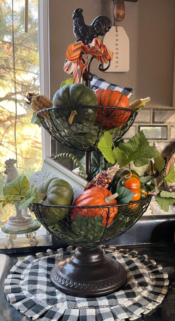 Fall Decorated Fruit Bowl